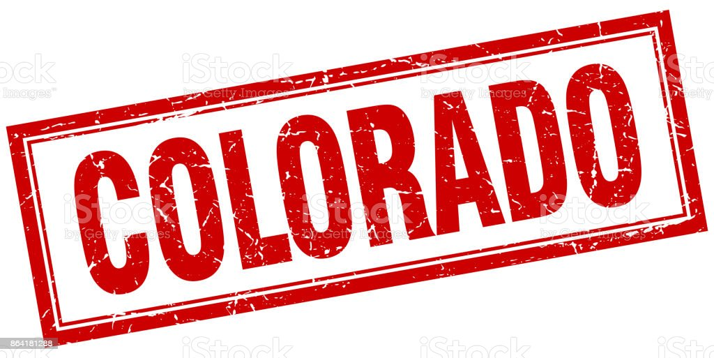 Colorado red square grunge stamp on white royalty-free colorado red square grunge stamp on white stock vector art & more images of colorado