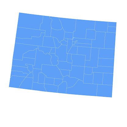 Colorado state map with counties