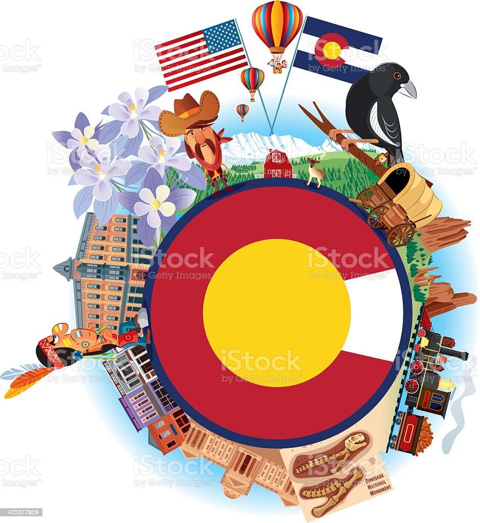 colorado travel symbols royalty free stock vector art