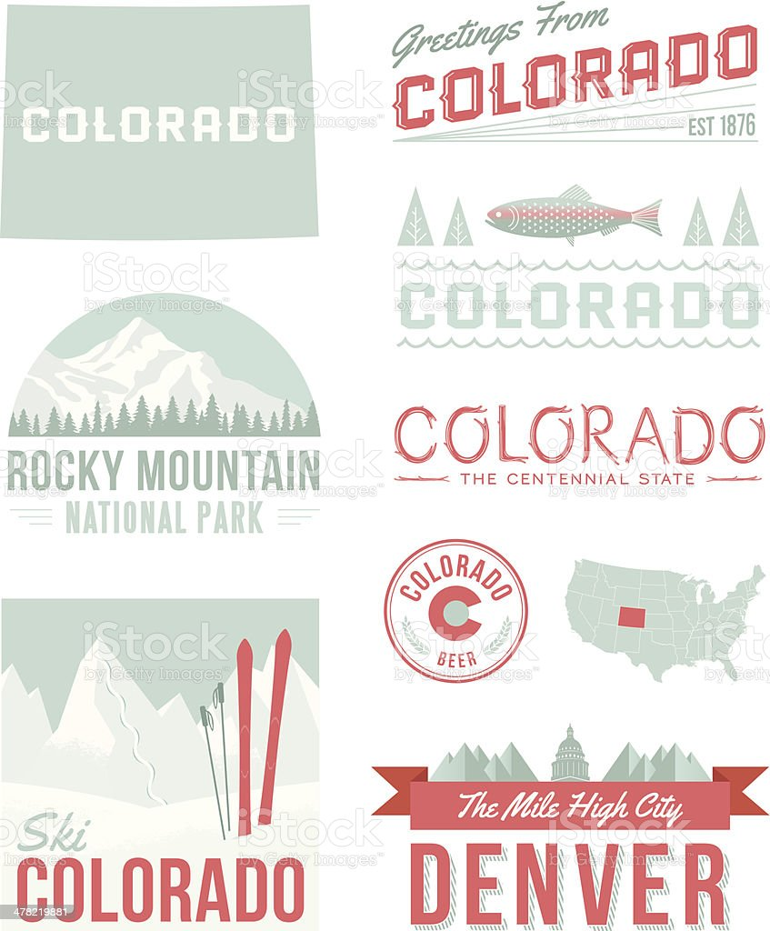 Colorado Typography vector art illustration