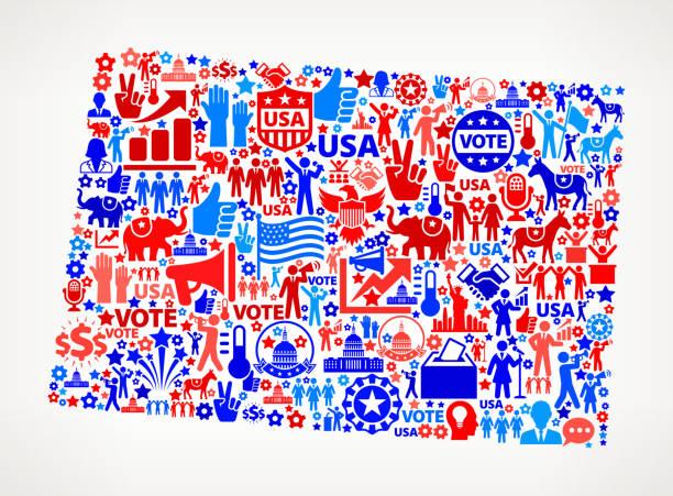 колорадо голосования и выборы сша отечественной значок рисунком - presidential debate stock illustrations