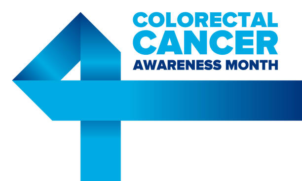 Colorectal Cancer Awareness Month. Celebrate annual in March. Control and protection. Prevention campaign. Medical health care concept. Poster with blue ribbon. Banner, background. Vector illustration vector art illustration