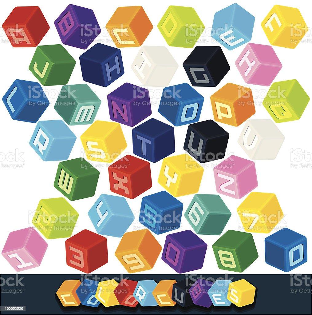 Cubo de ABC bloques de color. Clip Art vectorial - ilustración de arte vectorial