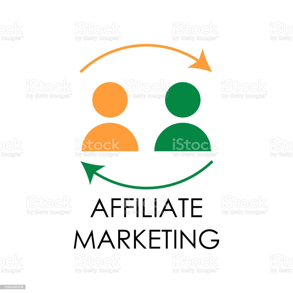 colored affiliate marketing illustration. Element of marketing and business flat for mobile concept and web apps. Isolated affiliate marketing flat can be used for web and mobile vector art illustration