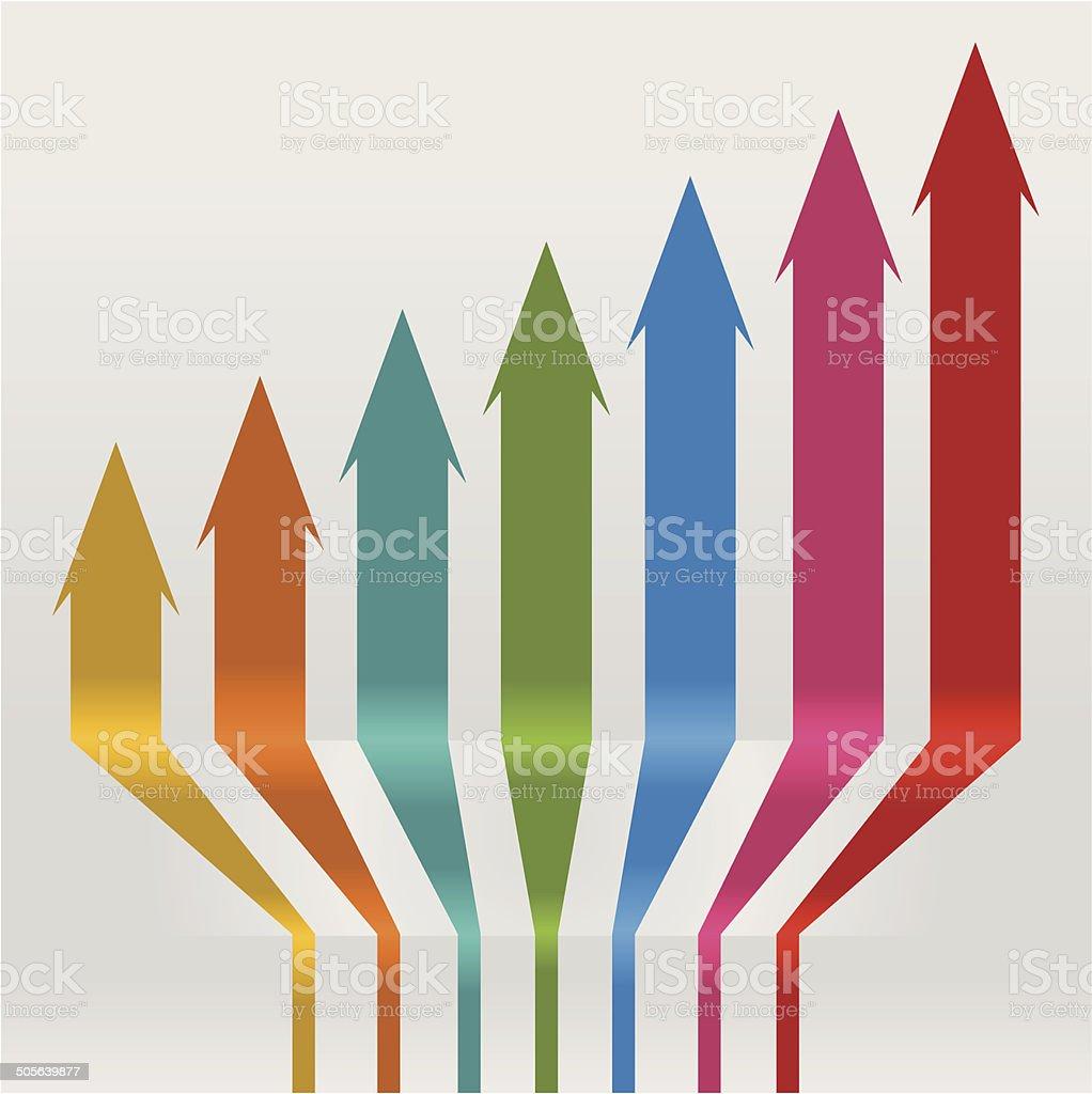 Colored arrows vector art illustration