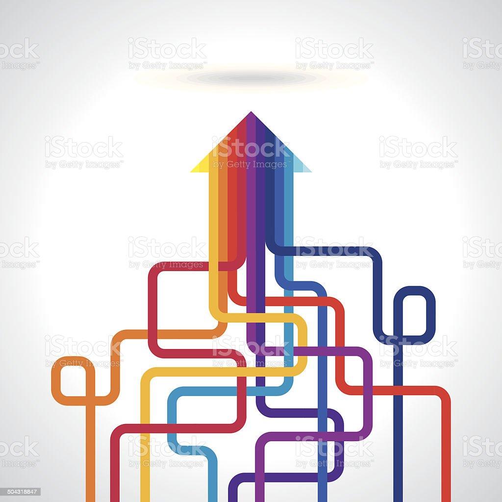 Colored arrows vector vector art illustration