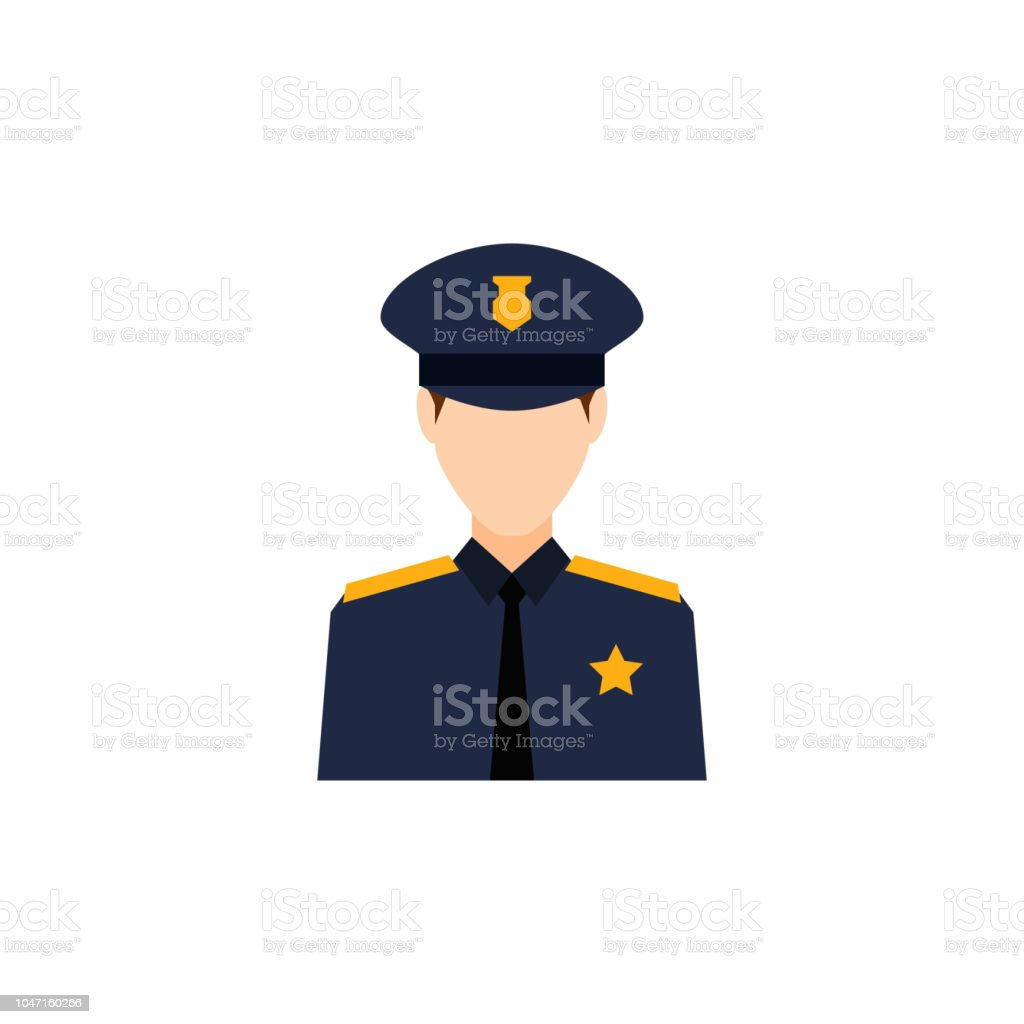 colored avatar of policeman icon. Element of colored people...