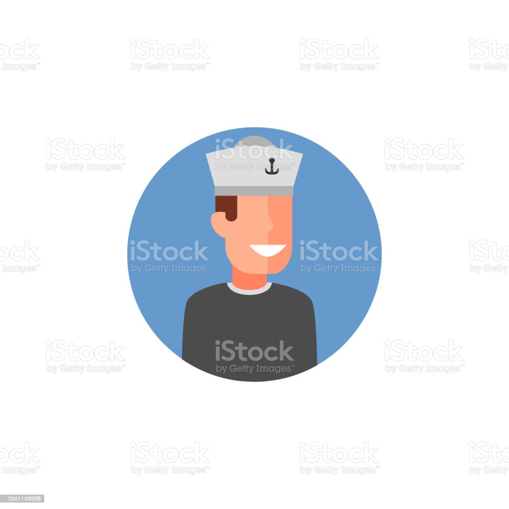 colored avatar of sailor icon. Element of colored people profession...