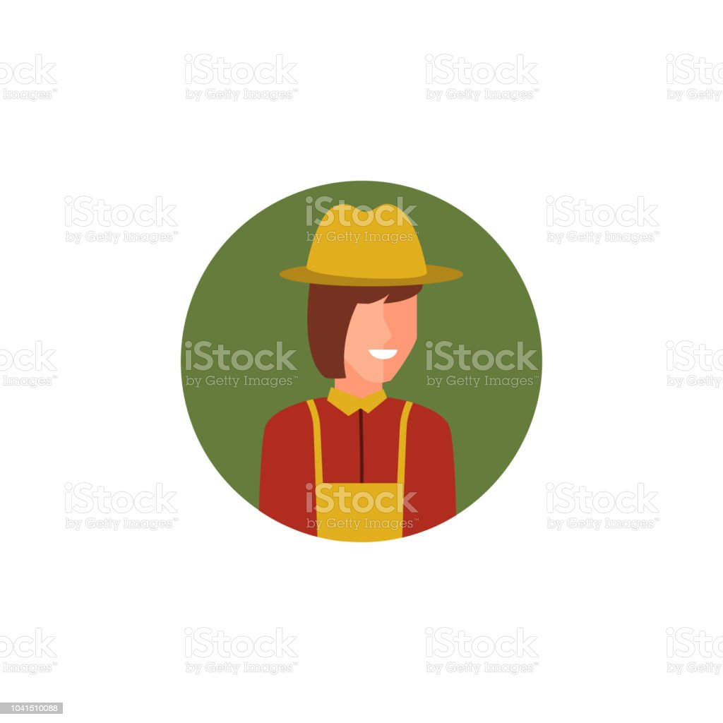 colored avatar of woman farmer icon. Element of colored people...