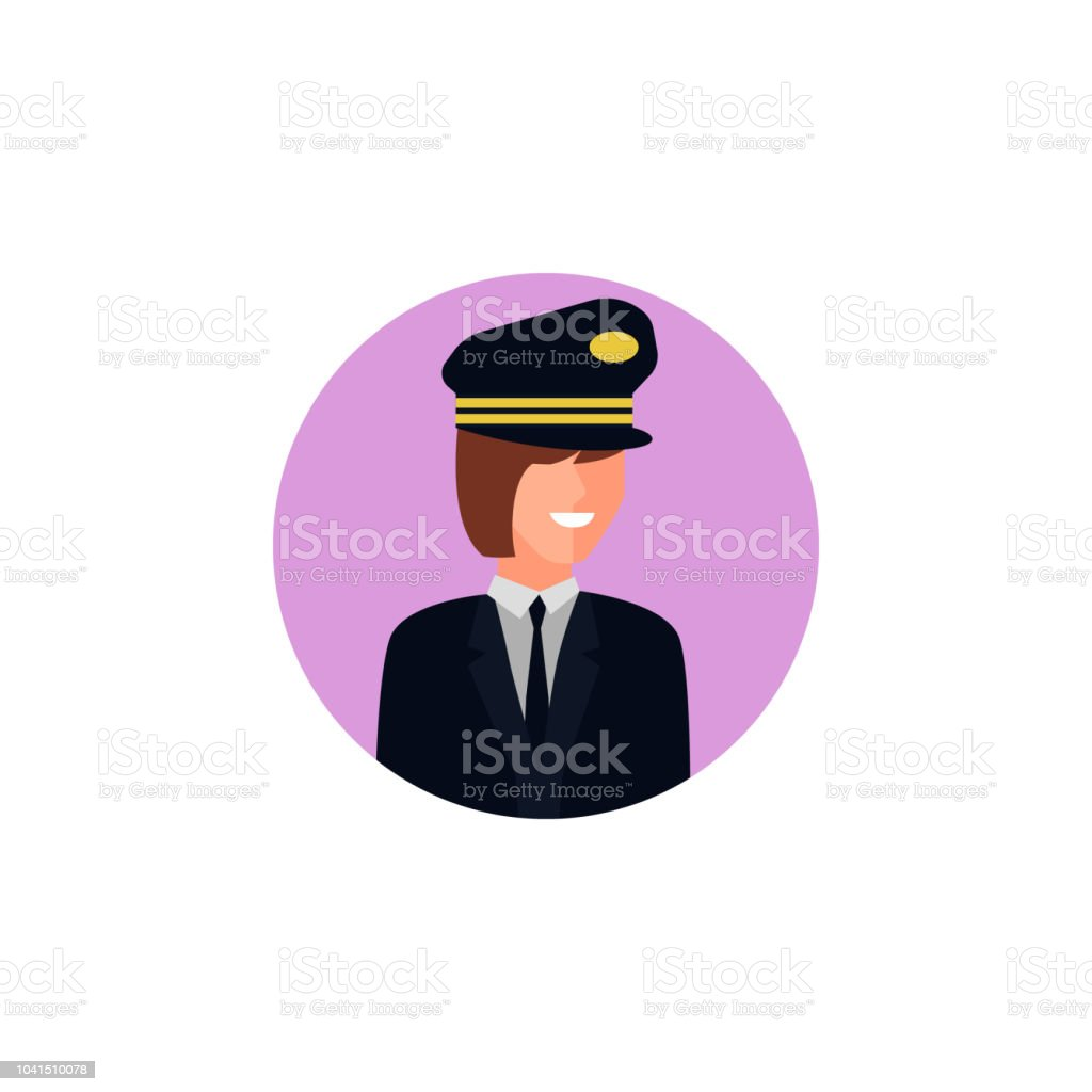 colored avatar of woman pilot icon. Element of colored people...