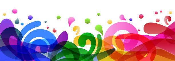 Colored background design illustration, summer colorful banner splash and waves in water abstract shape – for stock Colored background design illustration, summer colorful banner splash and waves in water abstract shape – for stock annotation stock illustrations