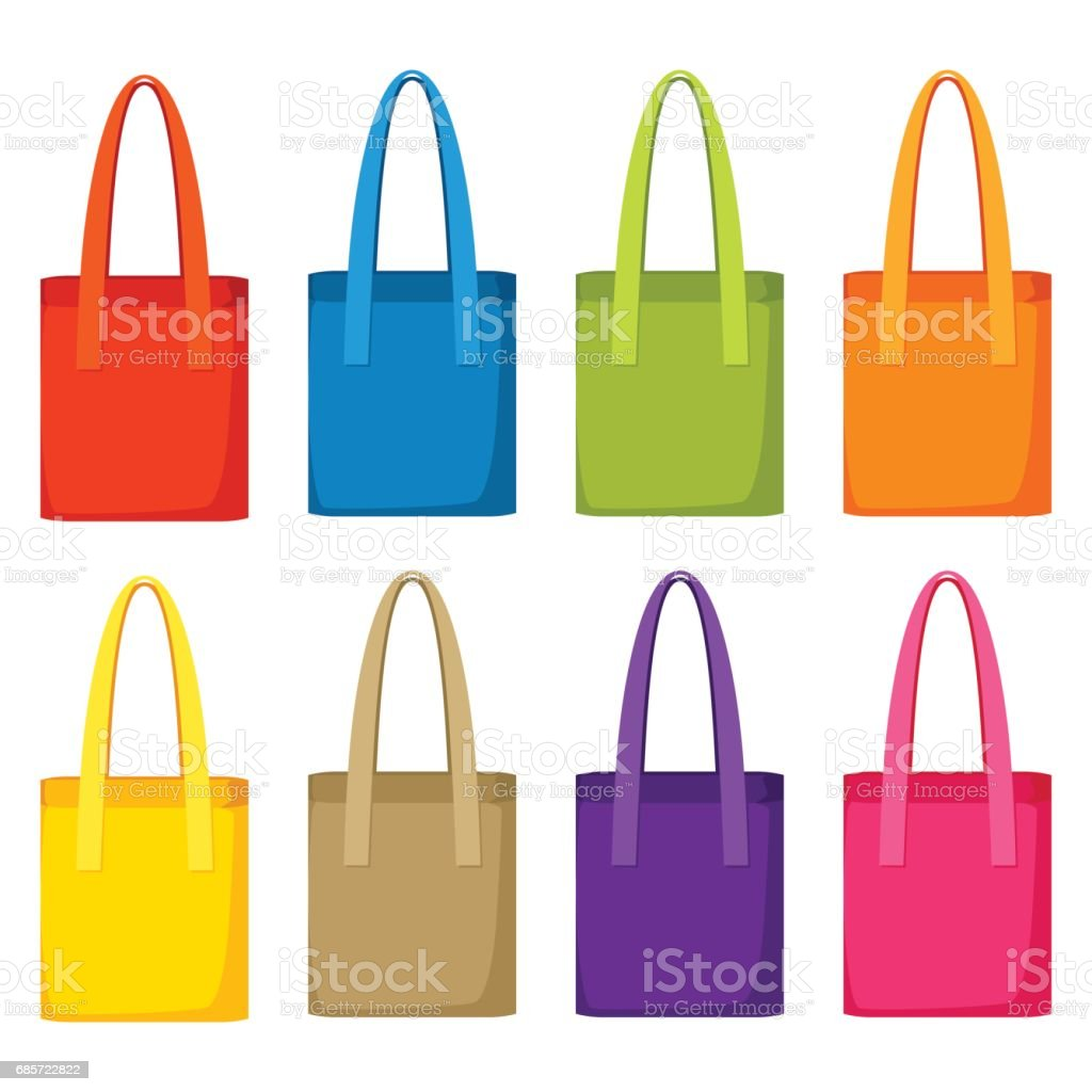 Colored bags templates. Set of promotional gifts and souvenirs colored bags templates set of promotional gifts and souvenirs - arte vetorial de stock e mais imagens de adulto royalty-free