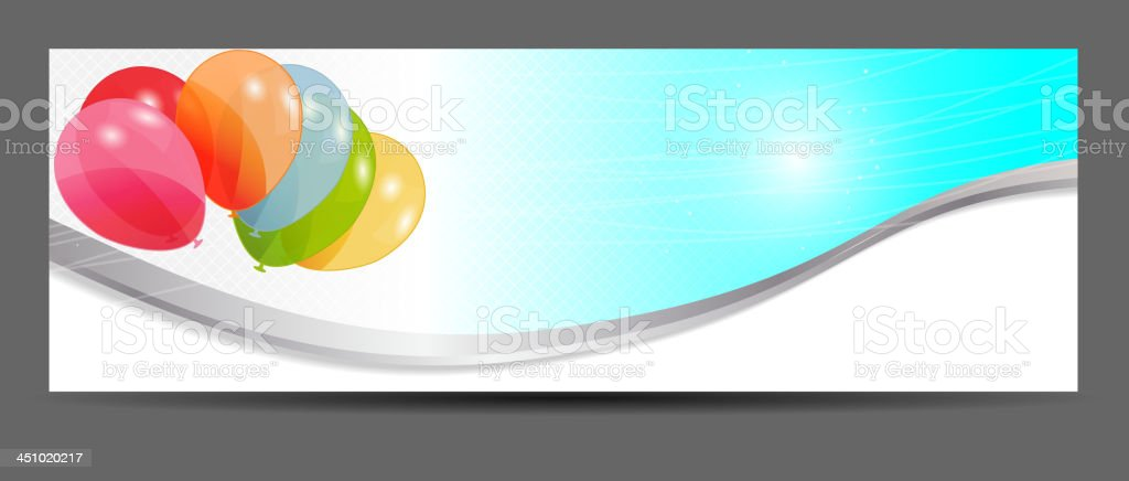 colored balloons banner, vector illustration royalty-free colored balloons banner vector illustration stock vector art & more images of baby