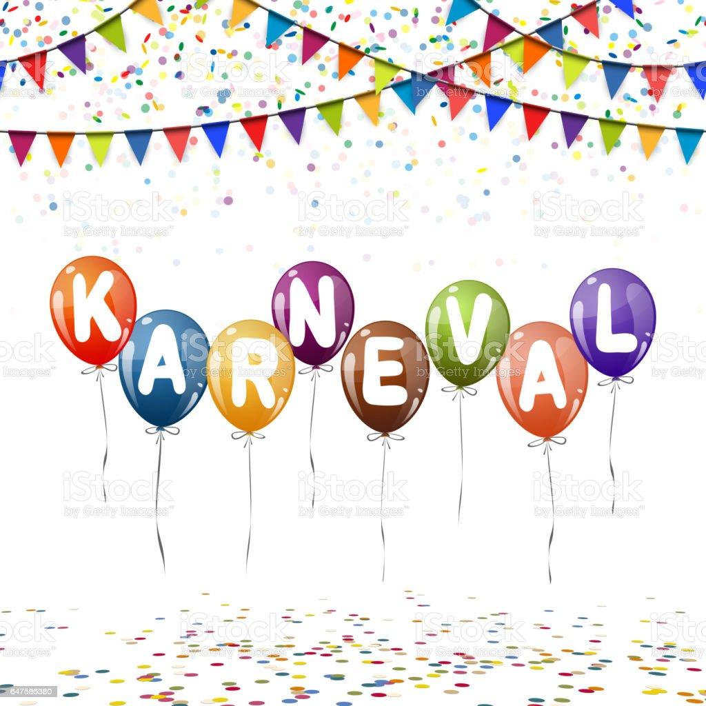 Ballons Colores Des Confettis Et Des Guirlandes Pour Le Carnaval
