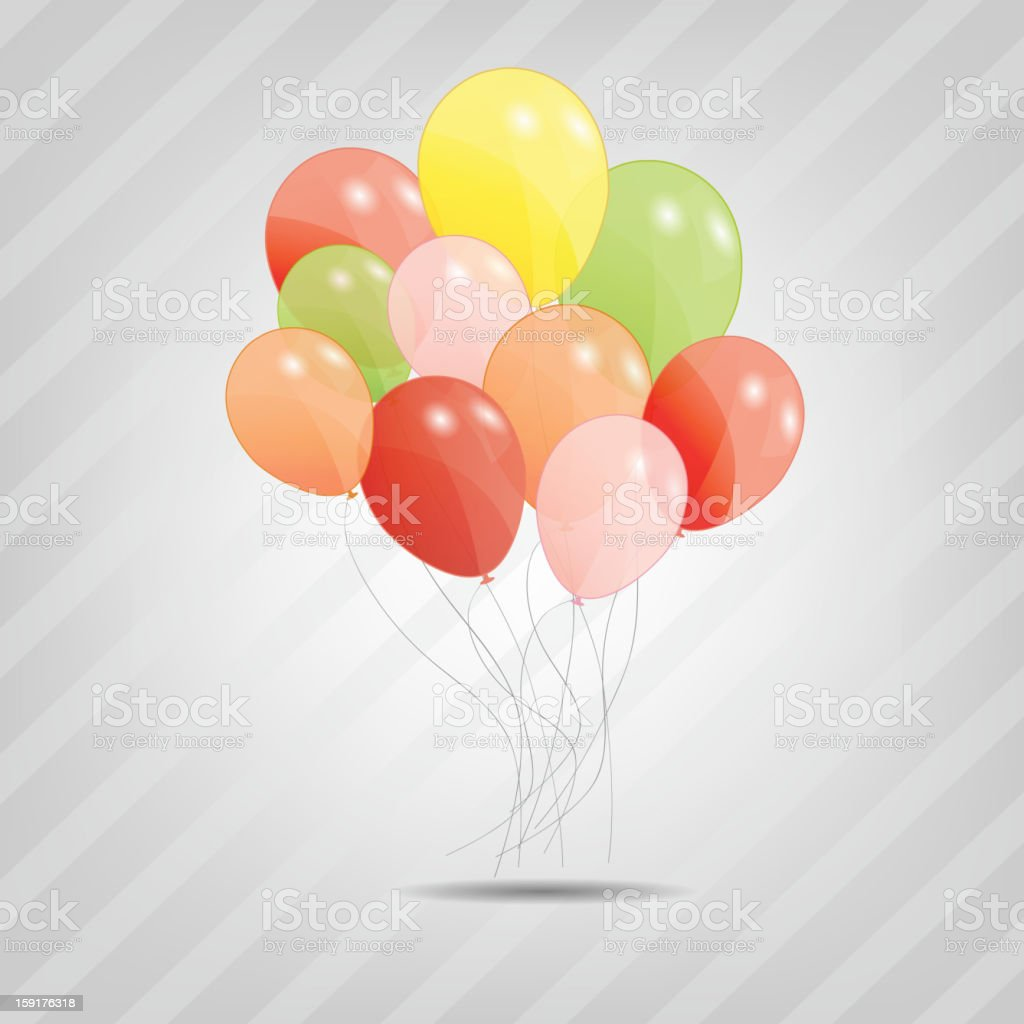 colored balloons, vector illustration vector art illustration