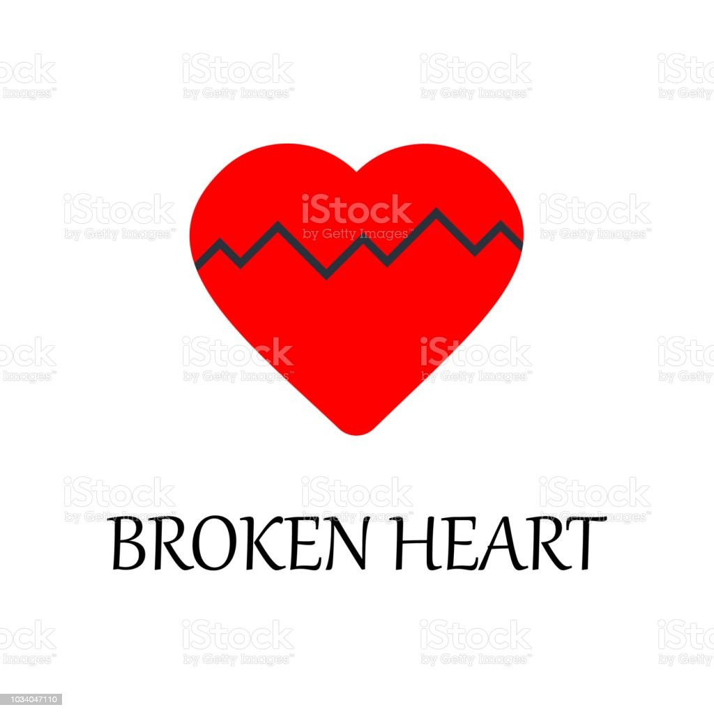 Colored Broken Heart Icon Element Of Web Icon For Mobile Concept And ...