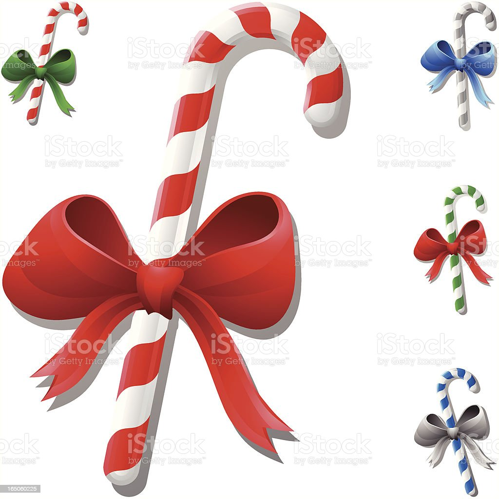 Colored Candy Cane royalty-free stock vector art