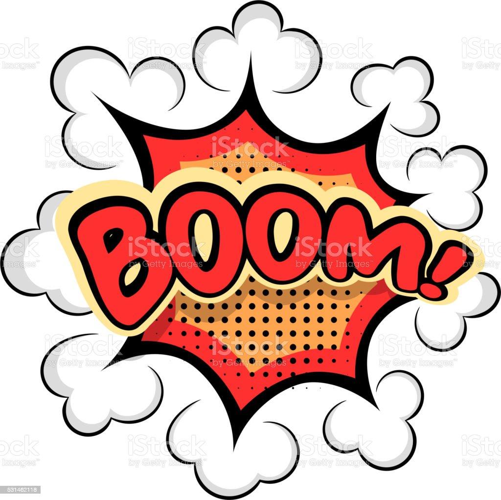 Couleur dessin anim explosion de boom comic bulle de - Boom dessin anime ...