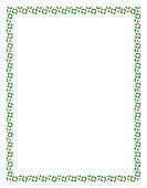 Frame made of colored Christmas fir trees for a happy celebration or Xmas