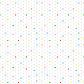 Colored circles, donuts seamless pattern