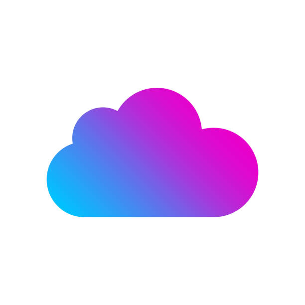 Colored Cloud icon on white background. Logo for web, app, programs. Cloud Technology concept. EPS 10 vector art illustration