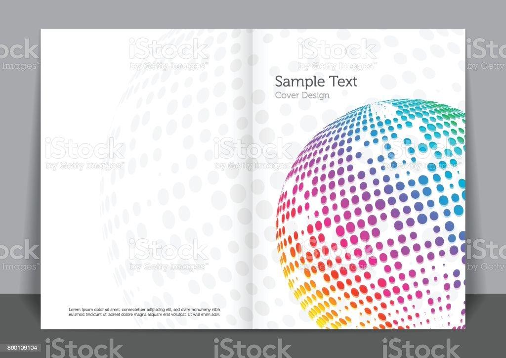 Colored Cover vector art illustration
