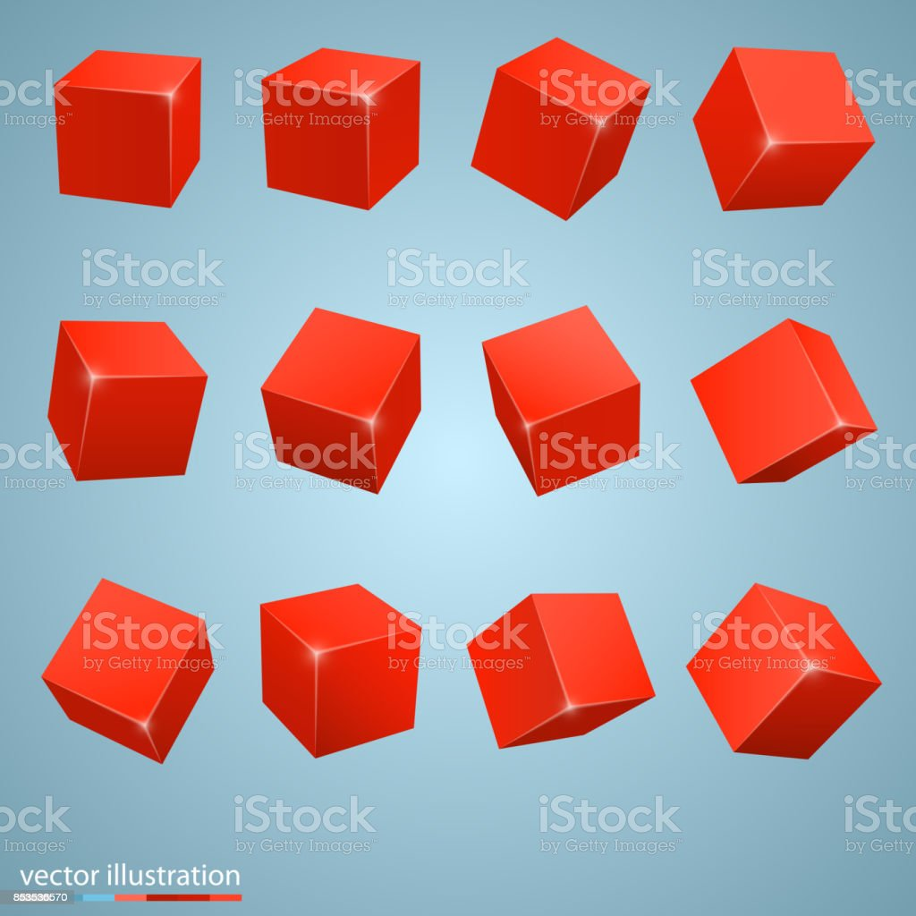 cubes de couleur 3d - Illustration vectorielle