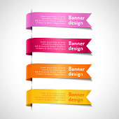 Colored decorative arrow ribbons set