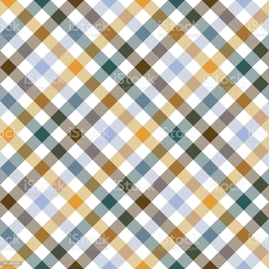 Colored diagonal check shirt seamless fabric texture colored diagonal check shirt seamless fabric texture - stockowe grafiki wektorowe i więcej obrazów abstrakcja royalty-free