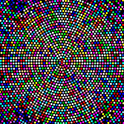 colored dots as mosaic or background for musical themes