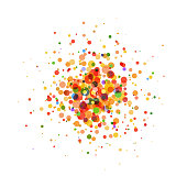 Multi colored circles on white