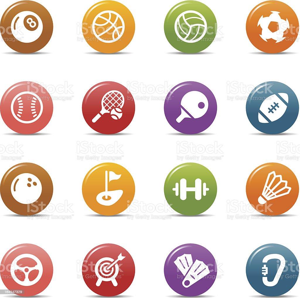 Pontos coloridos-Sport ícones - ilustração de arte em vetor
