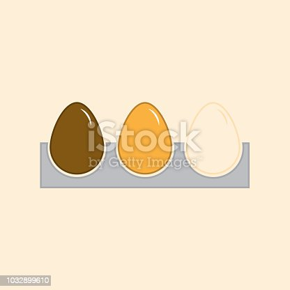 Colored eggs icon in a box with white background. Vector illustration design.