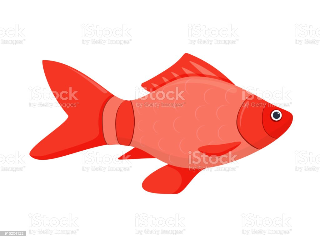 Un Icono De Vector Plano Coloreado De Los Peces - Arte vectorial de ...
