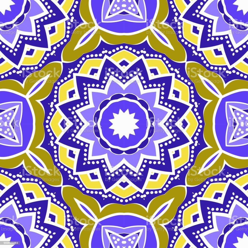 patrón de color floral vector geométrico. Ilustración de vector. ideal para proyectos creativos y decorativos. - arte vectorial de Abstracto libre de derechos