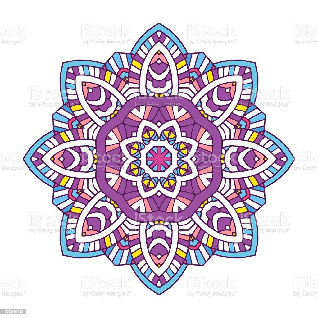 Ilustraci n de mandala flores de colores y m s banco de - Colores para mandalas ...