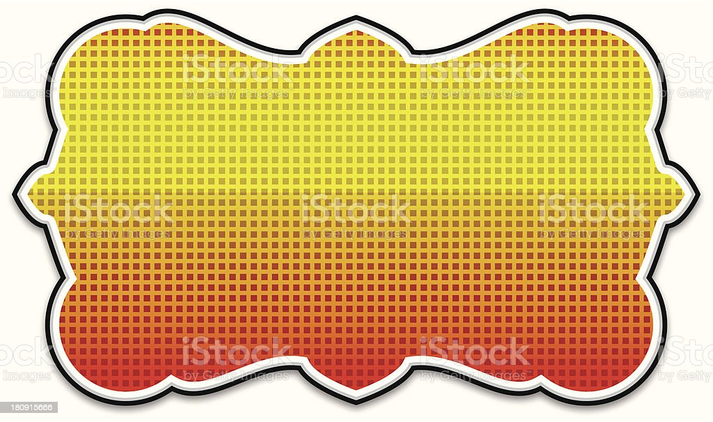 Colored Frame Banner - VECTOR royalty-free stock vector art