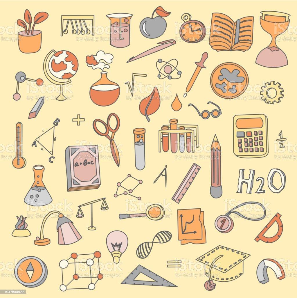 Ilustracao De Colorido Engracado Voltar Para A Escola Materiais