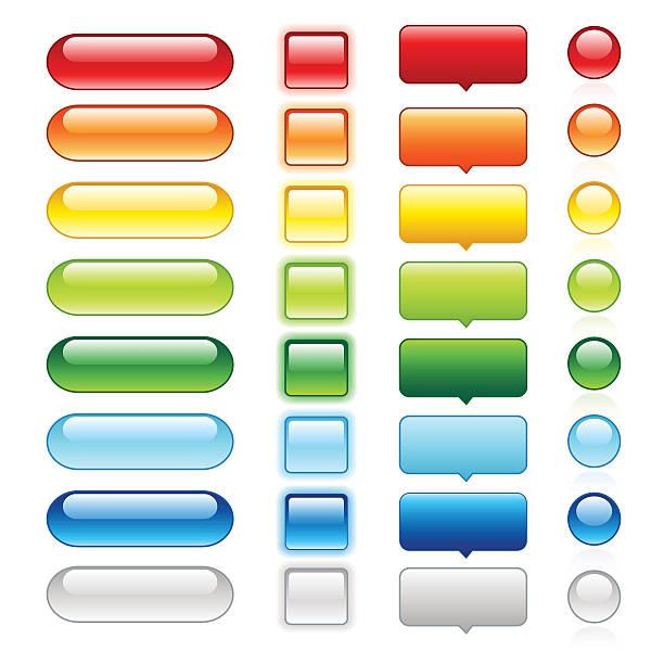 colored glossy web buttons | set 1 - 按鈕 幅插畫檔、美工圖案、卡通及圖標