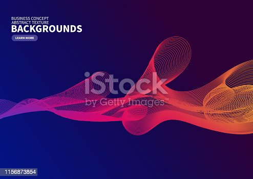 Colored gradient curve background