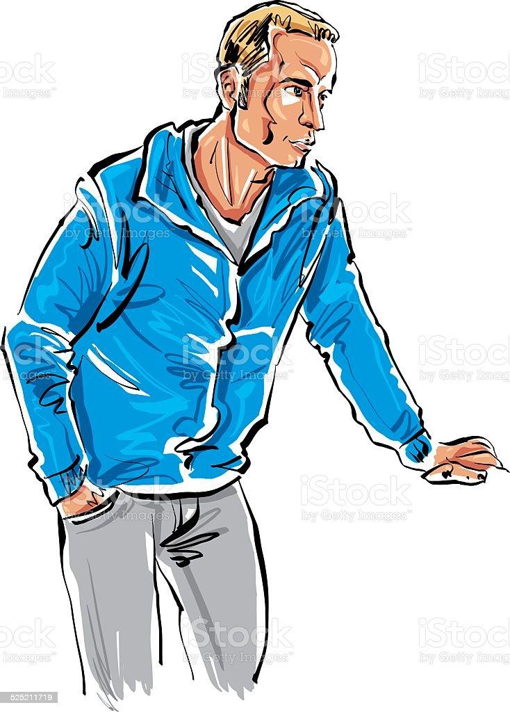 Couleur Main Dessinee Illustration Dun Homme A Poils Equitable
