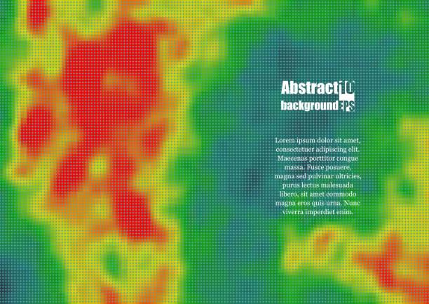 farbige heatmap für temperatur. eps10 vektor-illustration - wärme stock-grafiken, -clipart, -cartoons und -symbole