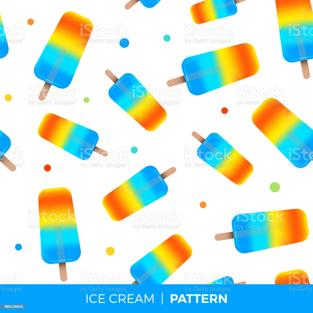 Colored ice-cream pattern. Vector illustration royalty-free colored icecream pattern vector illustration stock vector art & more images of cream - dairy product