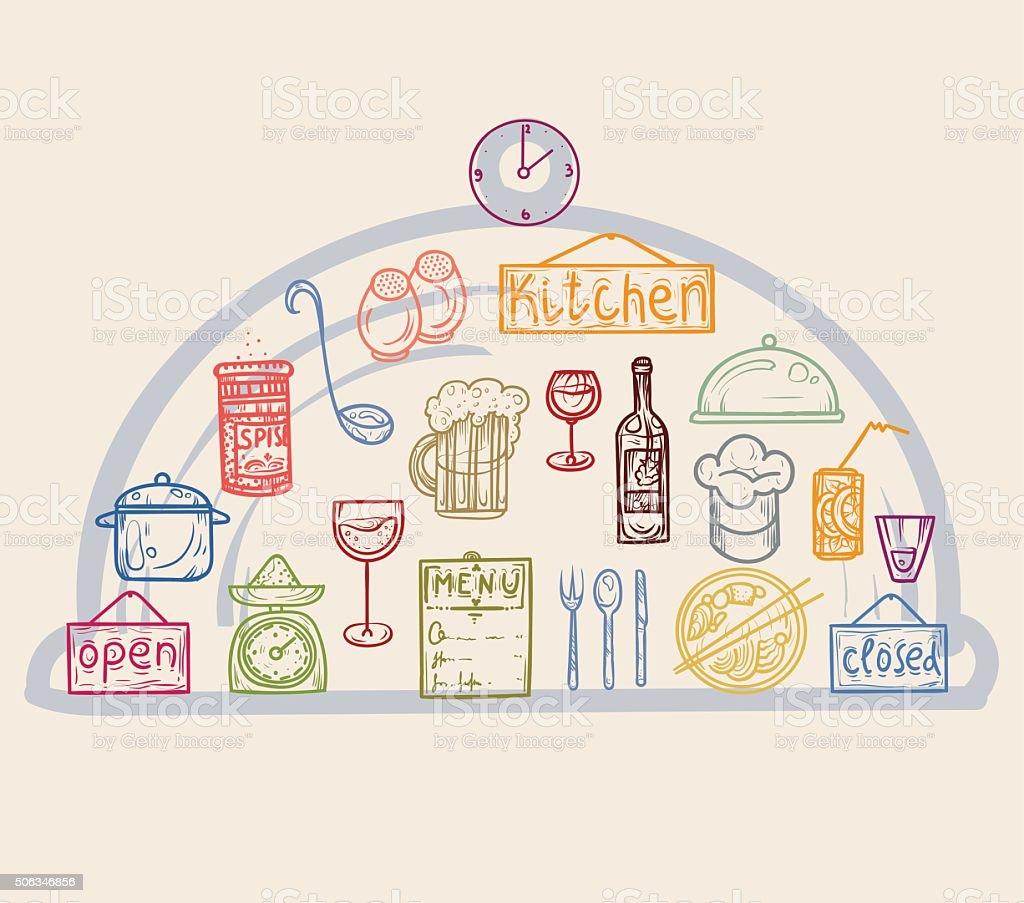 Bunte Icons Küchenutensilien Stock Vektor Art und mehr Bilder von ...