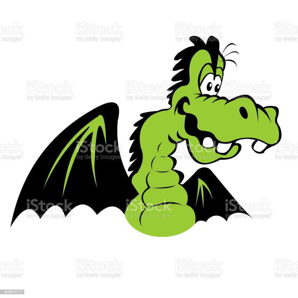Ilustración De Color Ilustración De Un Dragón De Dibujos Animados Y