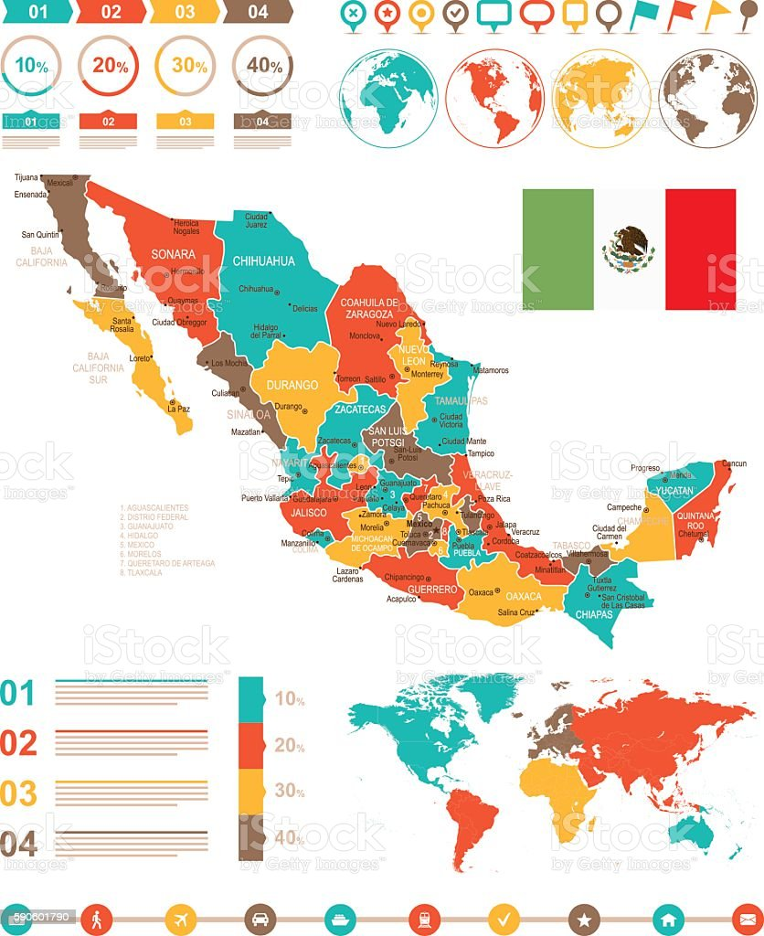 Colored infographic mexico map arte vectorial de stock y ms colored infographic mexico map colored infographic mexico map arte vectorial de stock y ms imgenes gumiabroncs