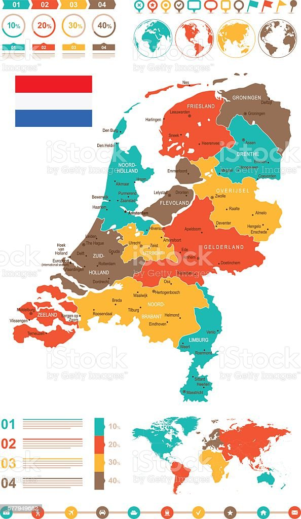 Colored infographic netherlands map stock vector art more images colored infographic netherlands map royalty free colored infographic netherlands map stock vector art amp publicscrutiny Image collections