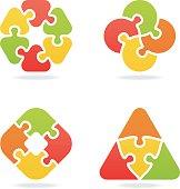 colored jigsaw puzzle set VI