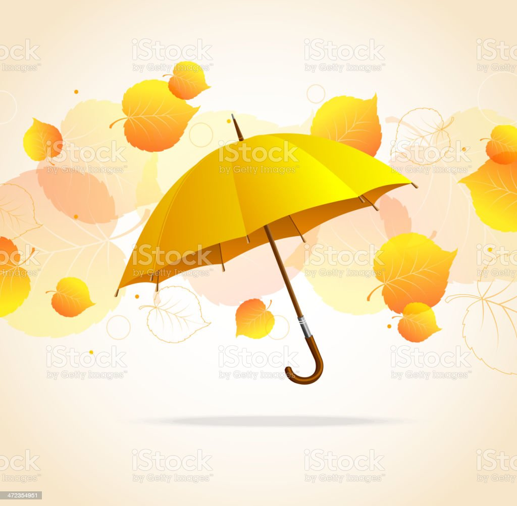 Colored leafs and umbrella royalty-free colored leafs and umbrella stock vector art & more images of abstract
