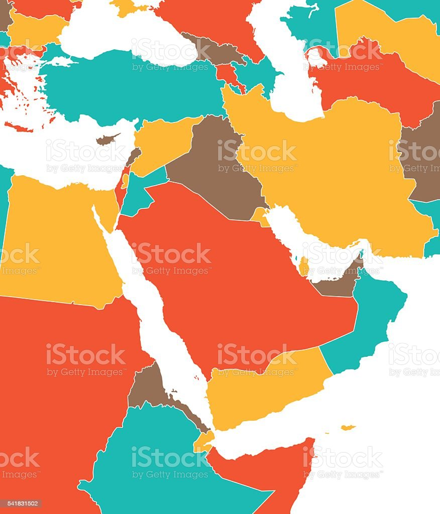 Colored map of middle east stock vector art more images of armenia colored map of middle east royalty free colored map of middle east stock vector art gumiabroncs Images
